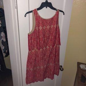 Short red knee length dress